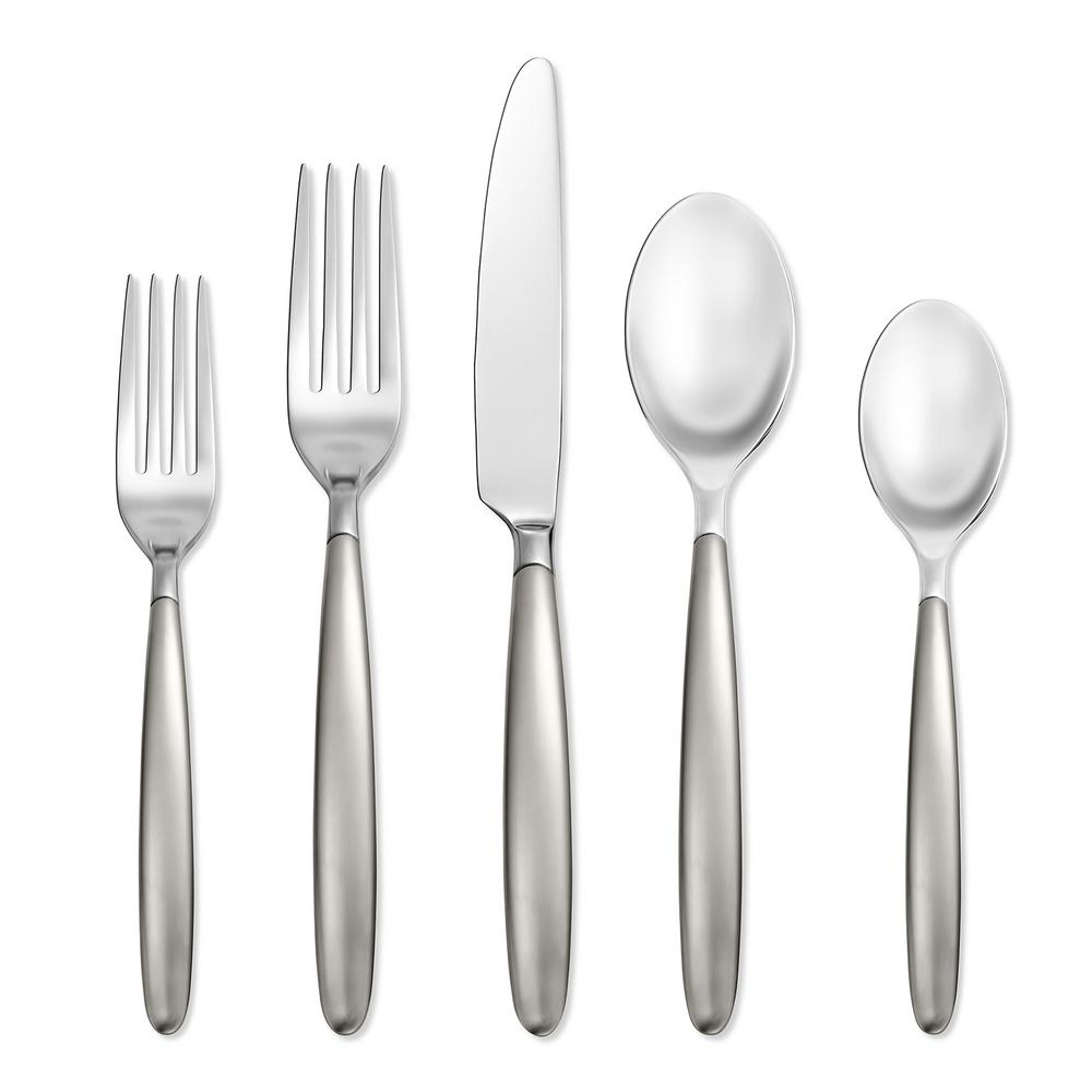 Tidal Frosted 20-Piece Flatware Set (Service for 4)