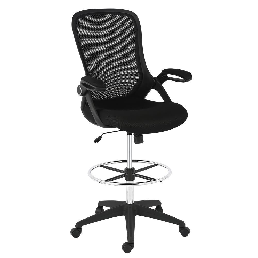 Sadia Mesh Black Drafting Chair