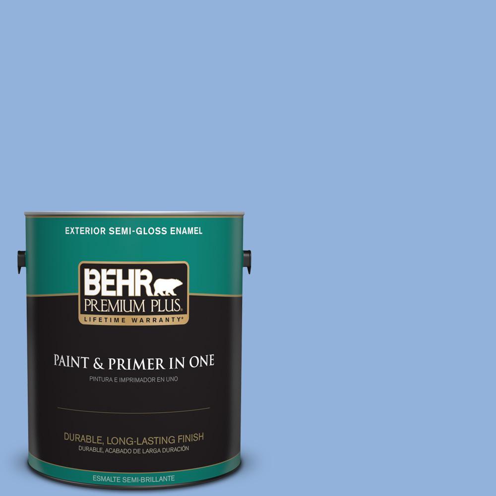 1 gal. #PPU15-12 Bluebird Semi-Gloss Enamel Exterior Paint