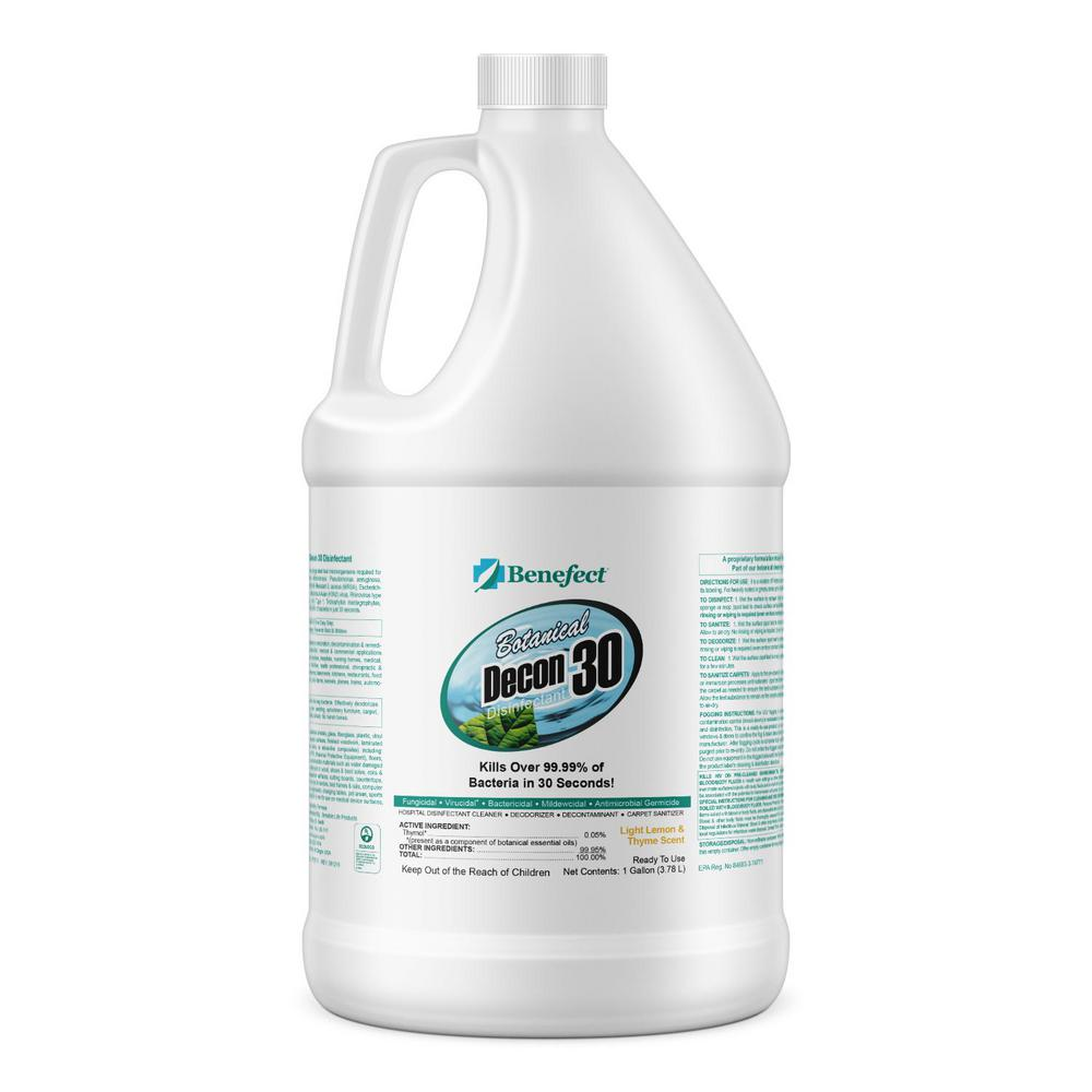 BENEFECT 1 gal. All-Purpose Botanical Cleaner and Disinfectant Decon 30 for Germs & Mold Remediation on Multi-Surface (1 Unit)