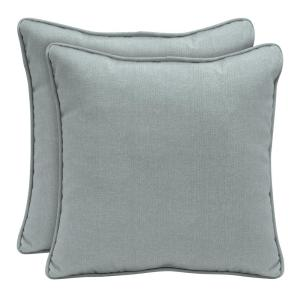 Sunbrella Cast Mist Square Outdoor Throw Pillow (2-Pack)