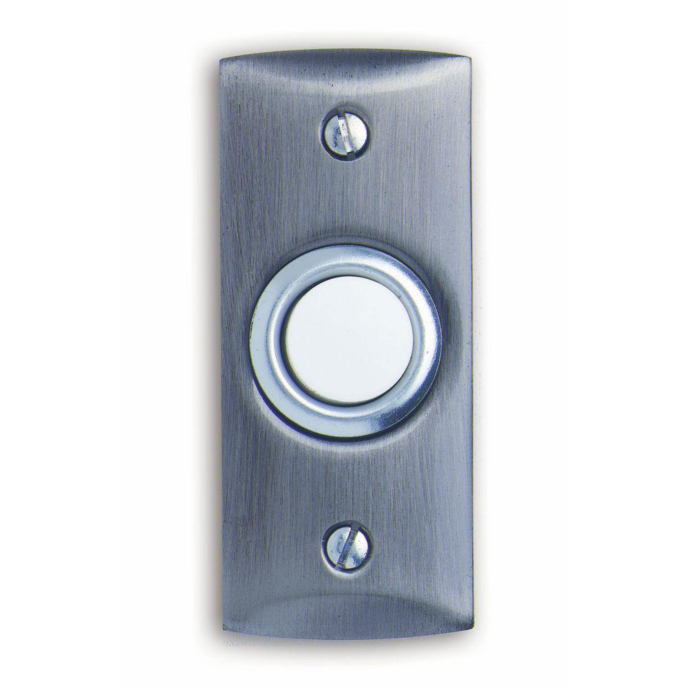 Heath Zenith Wired Satin Nickel Finish Lighted Push Button
