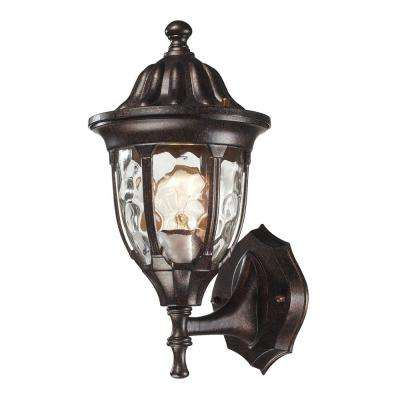 Glendale 1-Light Outdoor Regal Bronze Sconce