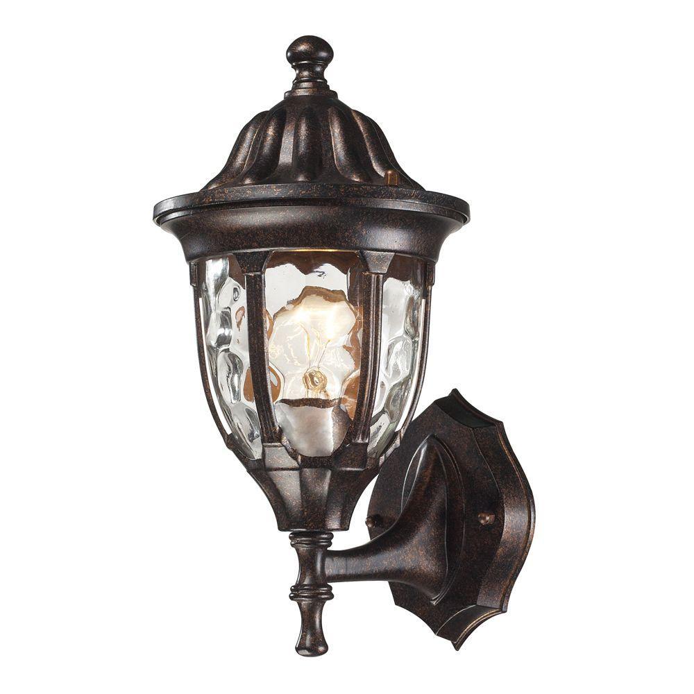 Glendale 1 Light Outdoor Regal Bronze Sconce 2 Titan Lighting