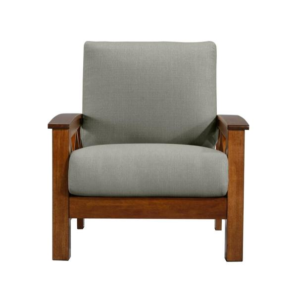 Handy Living Virginia X-Design Arm Chair with Exposed Cherry Wood Frame