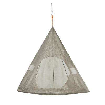 5 ft. x 5 ft. Dia TearDrop Portable Hammock in Bark Brown