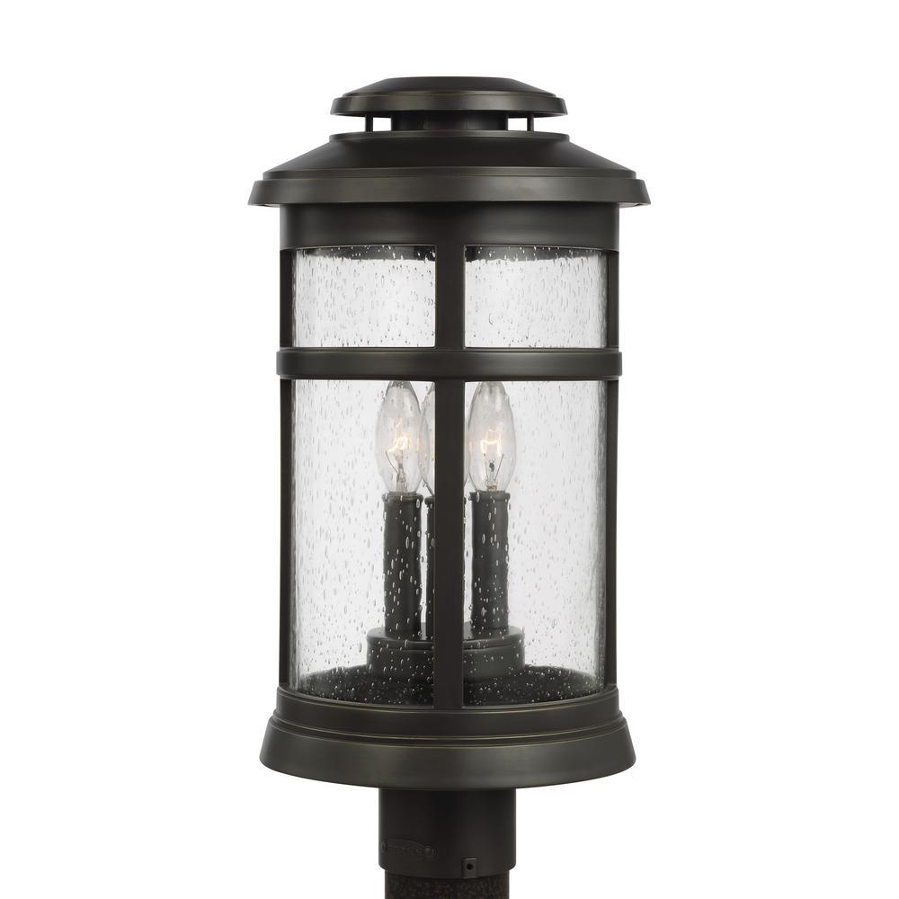 Newport 3-Light Outdoor Antique Bronze Post Light