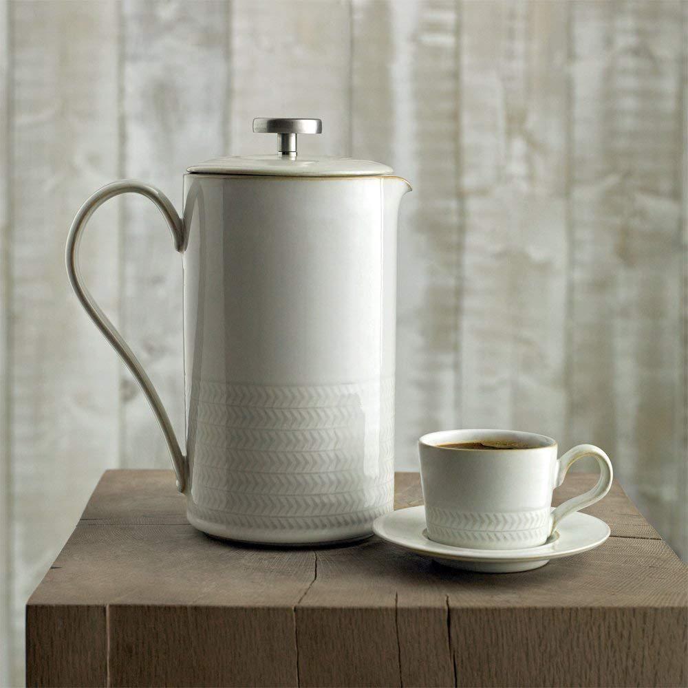 Natural Canvas White Espresso Saucer