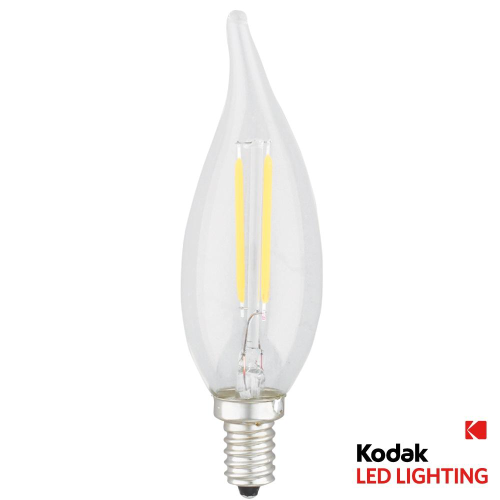 25W Equivalent Warm White E12 Flame Tip Dimmable LED Light Bulb