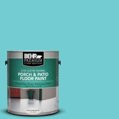 1 gal. #P460-3 Soft Turquoise Low-Lustre Interior/Exterior Porch and Patio Floor Paint
