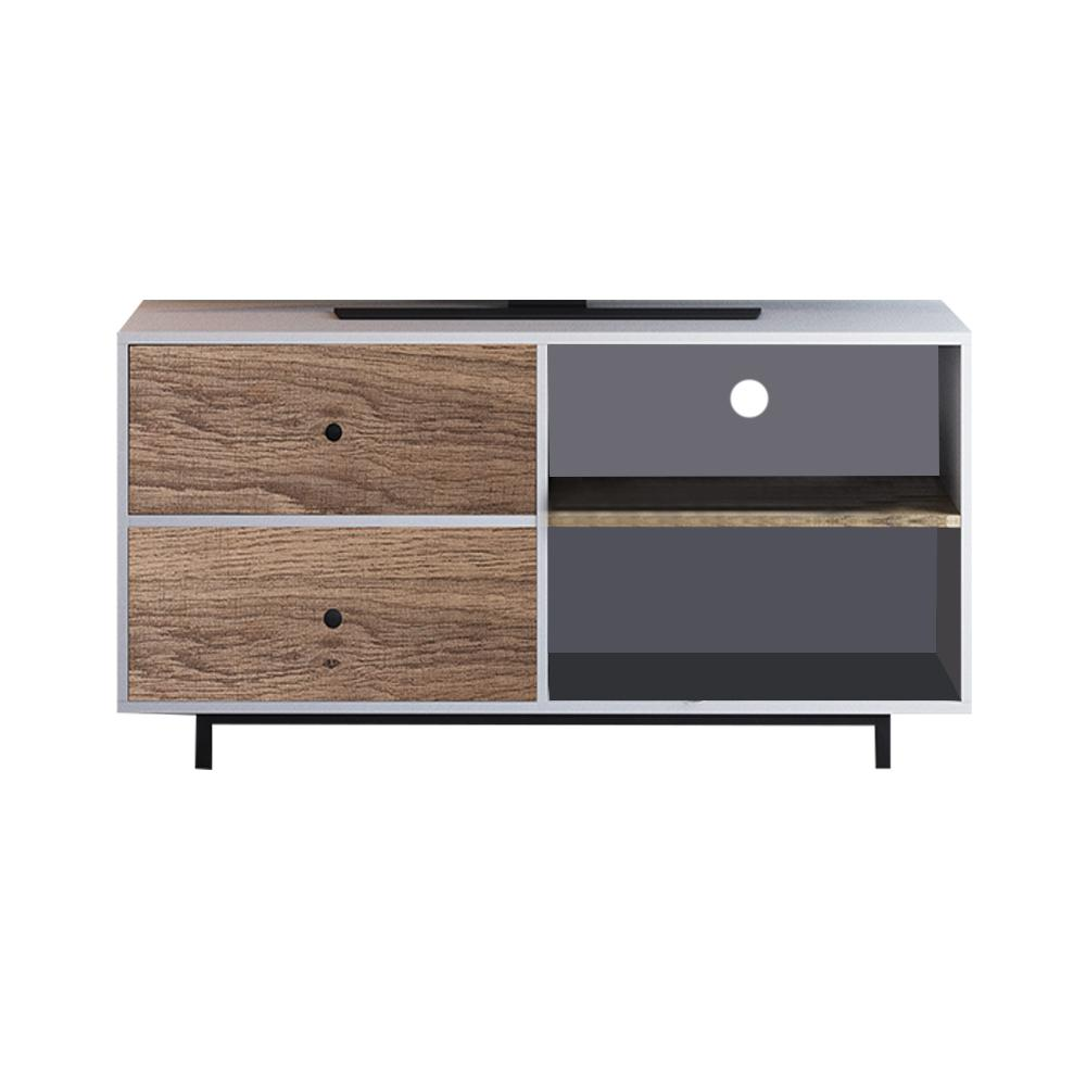 Nathan James Tora White 46 In Tv Stand Media Console With Rustic