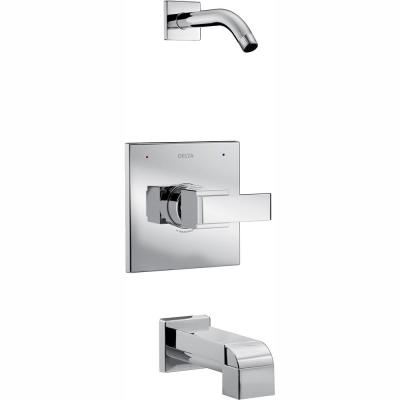 Ara 1-Handle Tub and Shower Faucet Trim Kit in Chrome with Less Showerhead (Valve Not Included)