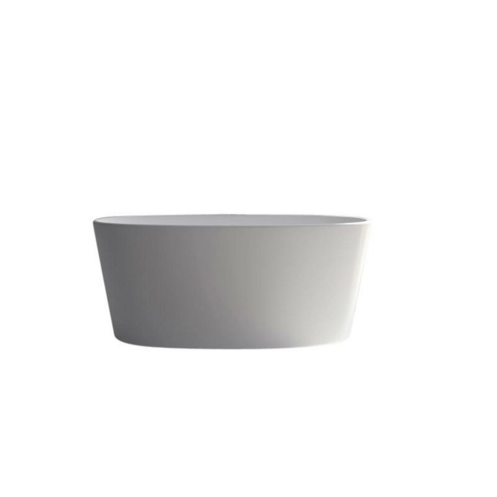 62 2 in stone resin flatbottom freestanding non whirlpool for Freestanding stone resin bathtubs