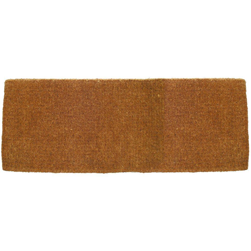 Blank 18 in. x 47 in. Extra Thick Hand Woven Coir Door Mat