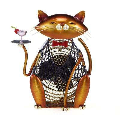 7 in. Figurine Fan-Cat-Cheers