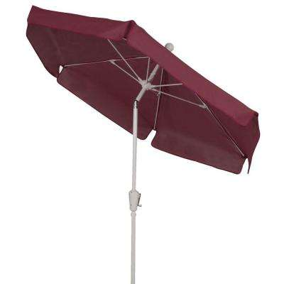 7.5 ft. Patio Umbrella in Burgundy