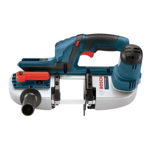 Click here to buy Bosch 18 Volt Lithium-Ion Cordless Electric Compact Portable Band Saw with 3 Blades (Tool-Only) by Bosch.