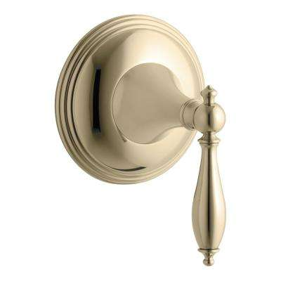 Finial Traditional 1-Handle Transfer Valve Trim Kit in Vibrant French Gold (Valve Not Included)