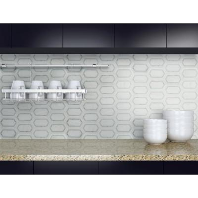 Pavilion Picket 12 in x 12 in. x 10 mm Polished Marble Mesh-Mounted Mosaic Tile ( 10 sq. ft. / case )