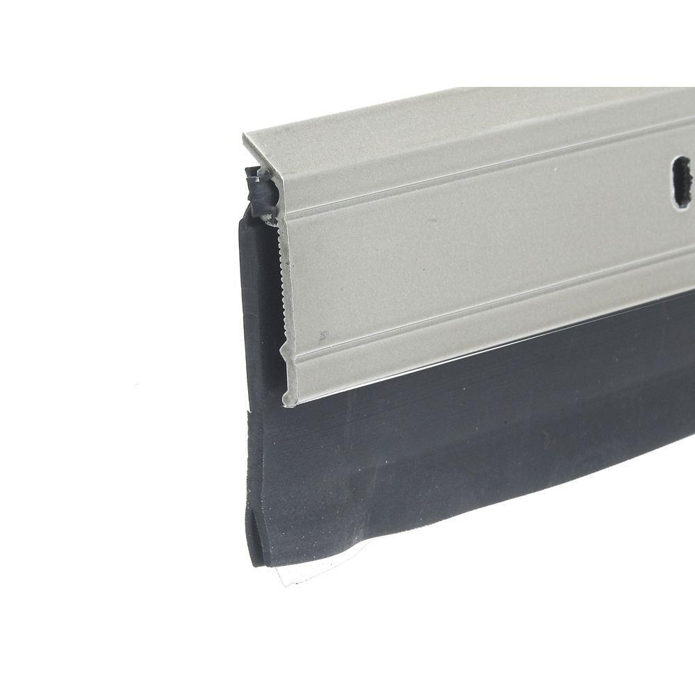 E/O 2 in. x 36 in. Satin Nickel Heavy-Duty Door Sweep