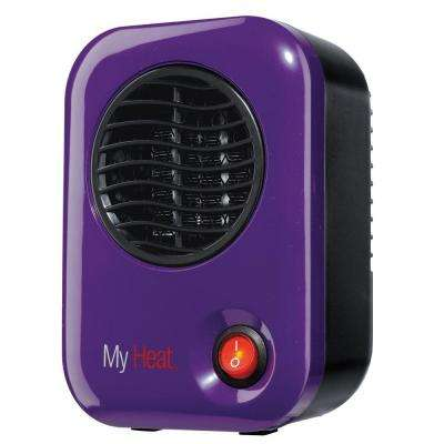 MyHeat 200-Watt Ceramic Electric Portable Personal Heater - Purple