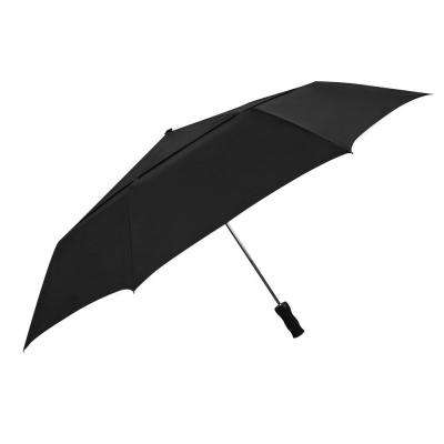 2.8 in. Windjammer Oversized Auto Open Umbrella in Black