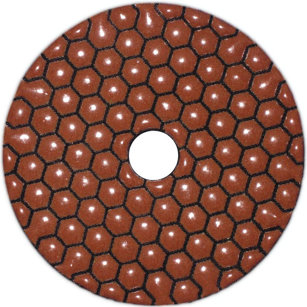 KING DIAMOND 4 in. 200 Grit Dry Polishing Pad-DISCONTINUED