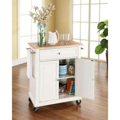 Crosley The Home Depot - Crosley kitchen island cart natural wood top