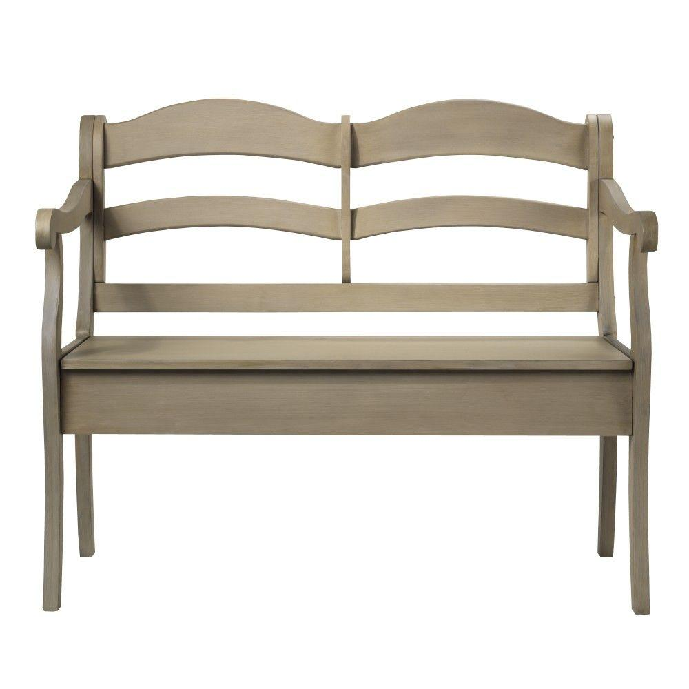 Home Decorators Collection Verona 43 in. W Driftwood Double Bench with Storage