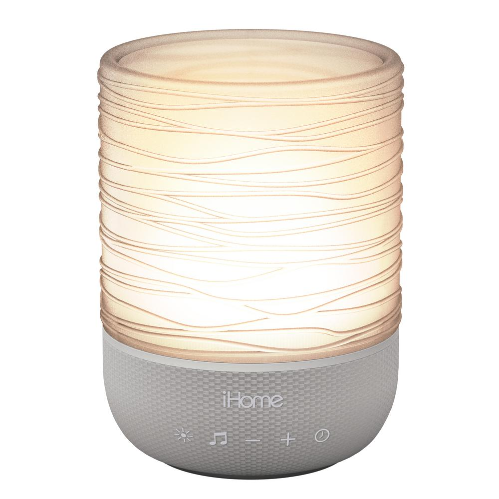iHome Zenergy Meditative Light and Sound Therapy Candle, Gray/Translucent -  IZM100GFT