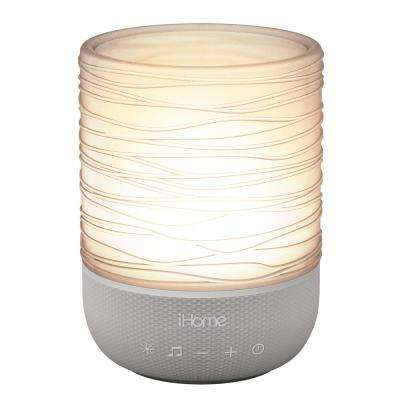 Zenergy Meditative Light and Sound Therapy Candle, Gray/Translucent