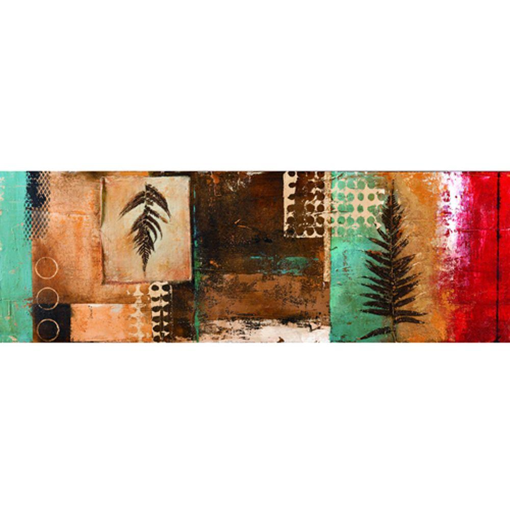 "Yosemite Home Decor 59 in. x 20 in. ""Pressed Leaves II"" Hand Painted Contemporary Artwork"