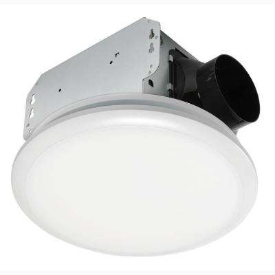 110 CFM Ceiling No Cut Installation Bathroom Exhaust Fan with LED Light