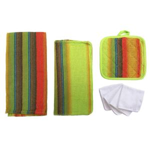 Home Basics Sierra Kitchen Towel Set in Lime (8-Piece) by Home Basics