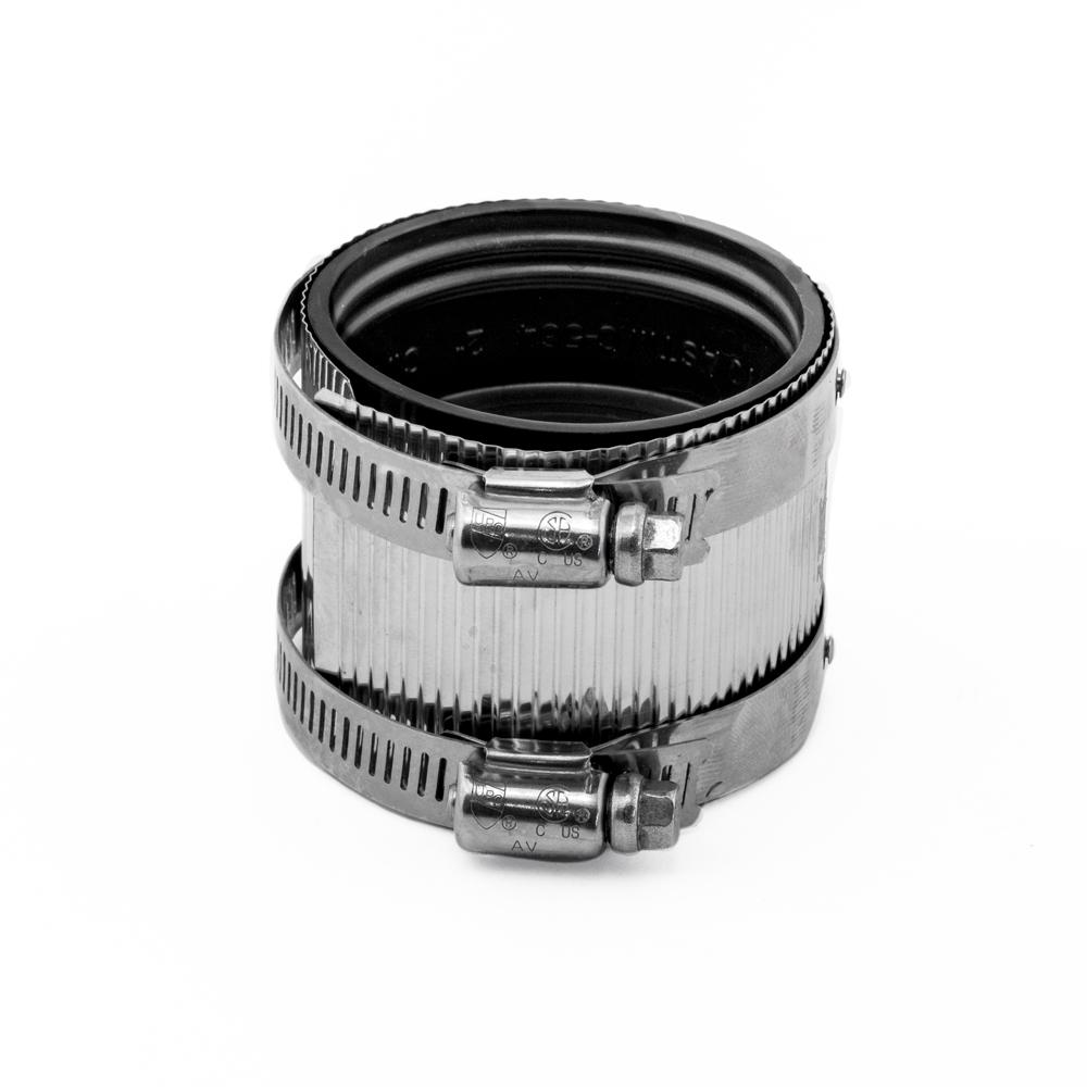 No Hub Coupling 2 in. Neoprene for Cast Iron or PVC