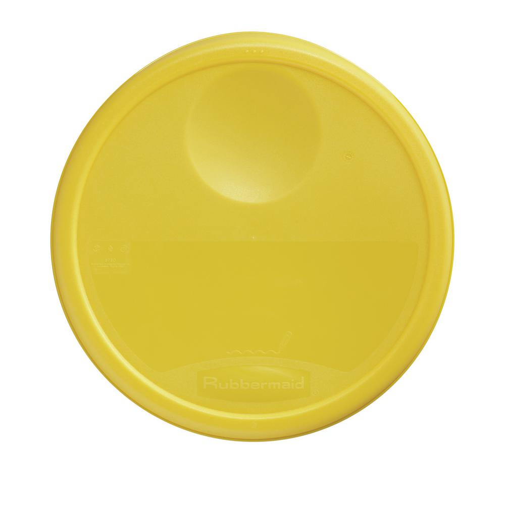 Rubbermaid Commercial Products Yellow Lid-RCP5730YEL - The Home Depot