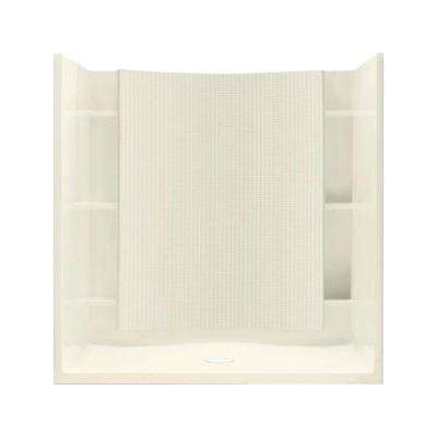 Accord 37-1/4 in. x 60 in. x 77 in. Shower Kit with Age-in-Place Backers in Biscuit