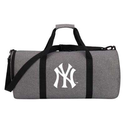 Yankees Wingman 10 in. Heathered Gray Duffle Bag