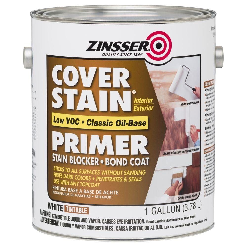 Zinsser Cover Stain 1 gal. White Low VOC Classic Oil-Based Interior/Exterior Primer and Sealer