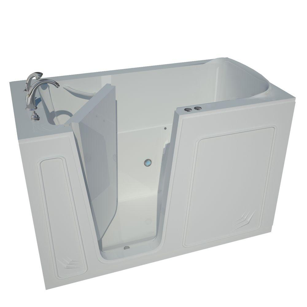 Universal Tubs 5 ft. Left Drain Walk-In Whirlpool Air Bath Tub in White