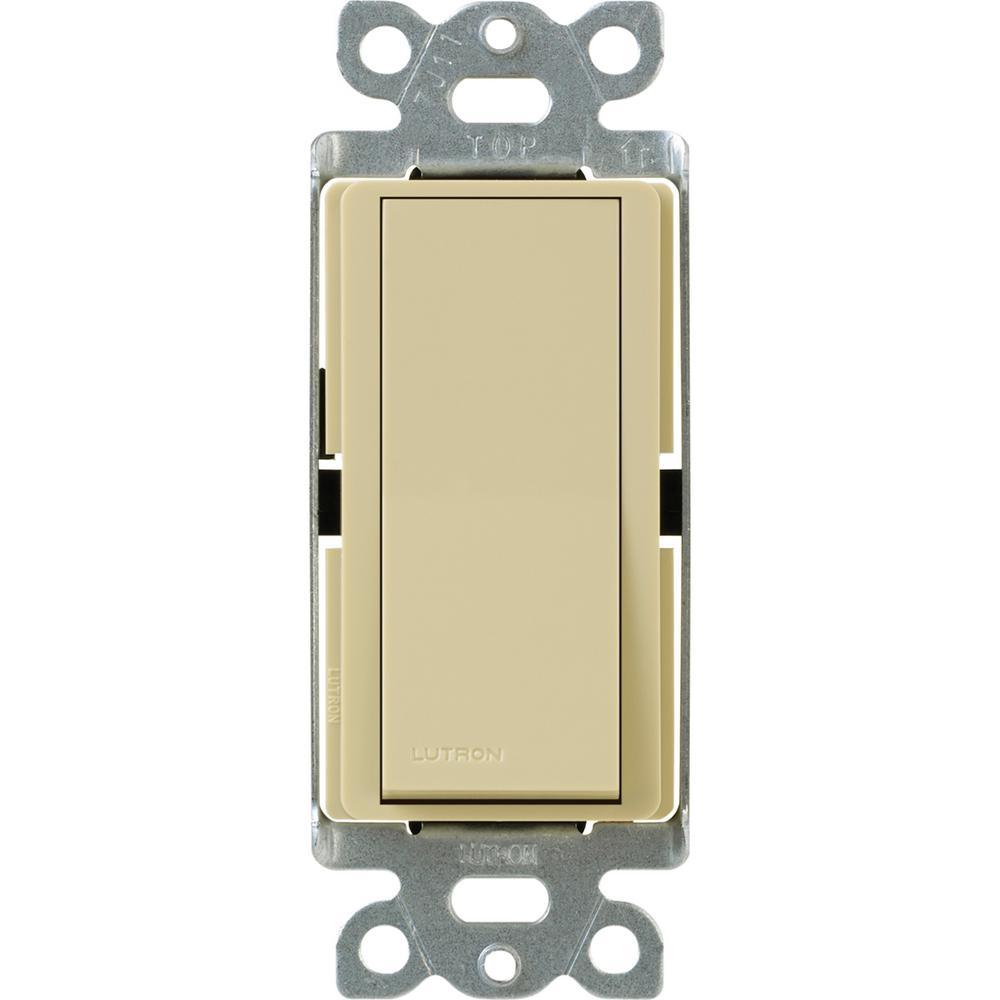 Quiet Bathroom Light Pull Switch: Lutron Claro 15 Amp Single-Pole Rocker Switch With Locator