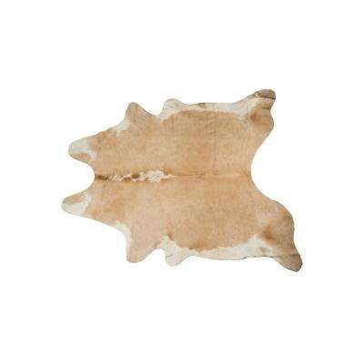 KOBE COWHIDE TAN/WHITE 5 ft. x 7 ft. AREA RUG