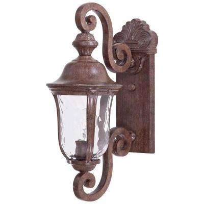 Ardmore 1-Light Vintage Rust Outdoor Wall Mount Lantern