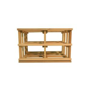 Click here to buy  Mini Stack Series-Bin Storage Unstained Wine Rack 11-15/16 inch H x 18-11/16 inch W.