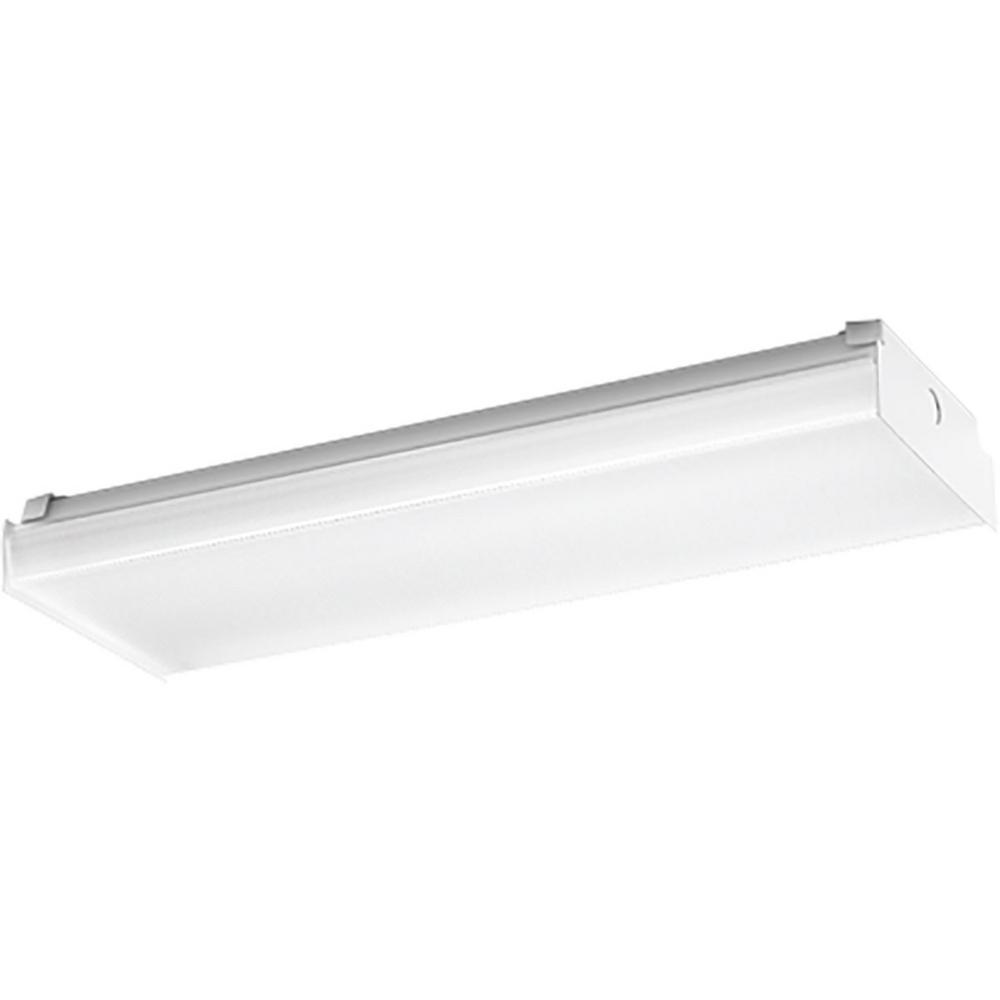 progress lighting 25 watt white integrated led wraparound. Black Bedroom Furniture Sets. Home Design Ideas