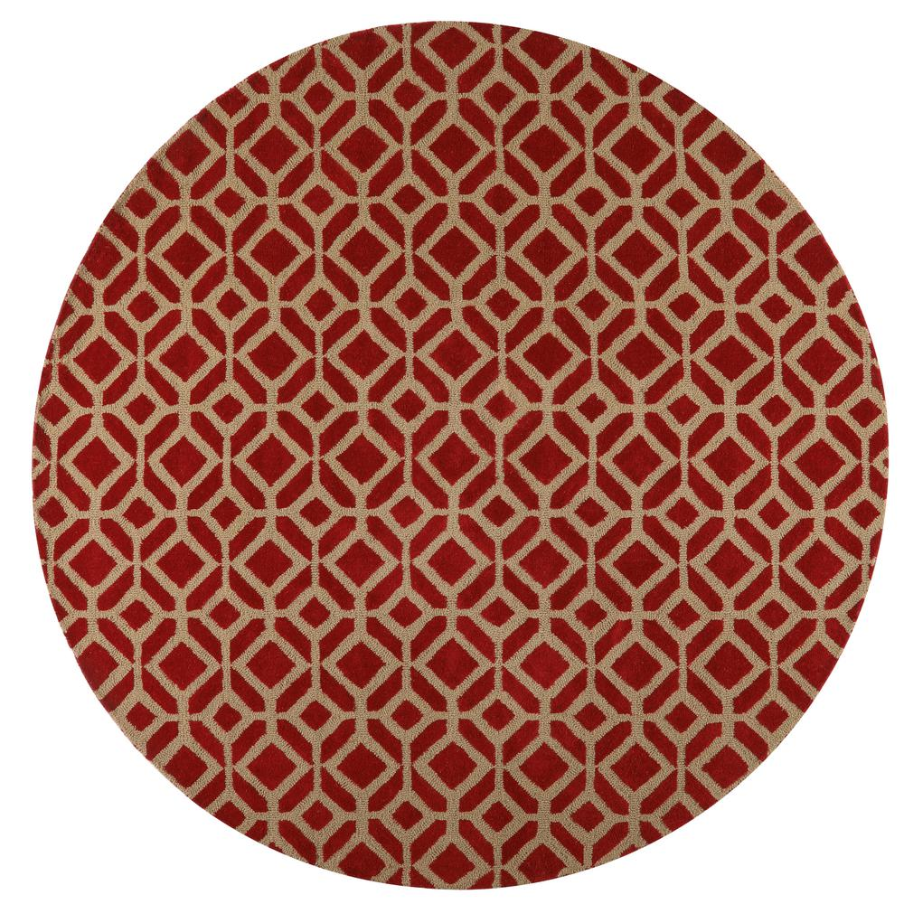 home decorators collection taza red 8 ft x 8 ft round
