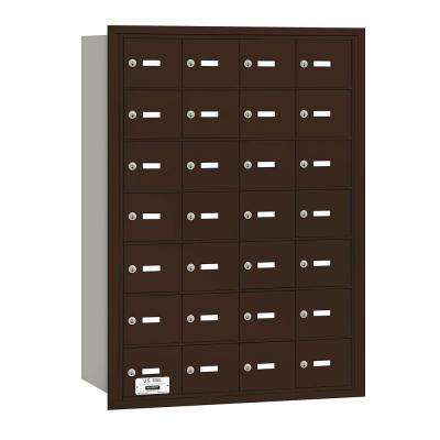 Bronze USPS Access Rear Loading 4B Plus Horizontal Mailbox with 28A Doors