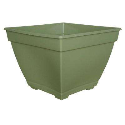 Newbury 14.88 in. x 15 in. Lotus Green Plastic Deck Box