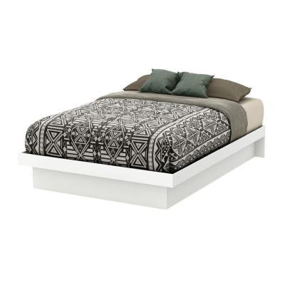 Basic Full-Size Platform Bed in Pure White