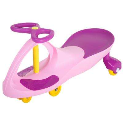 Pink and Purple Wiggle Car Ride On